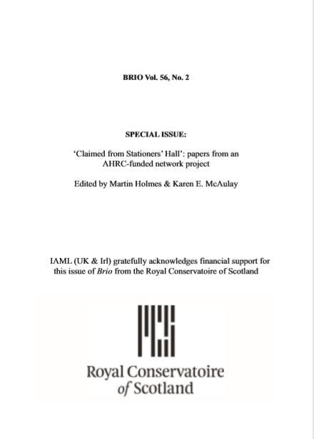 Brio 56 no 2 title page